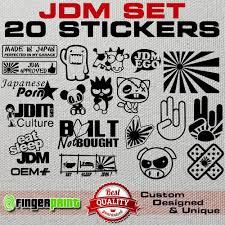 Jdm Decal Set Sticker Vinyl Stickerbomb Illest Hella Stance Low Life Honda Japan Funny Bumper Stickers Jdm Stickers Car Sticker Ideas