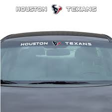 Nfl Houston Texans Windshield Decal Fanmats Sports Licensing Solutions Llc