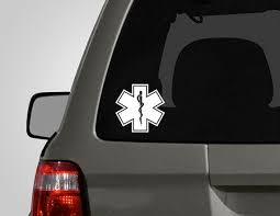 Star Of Life Decal Medical Symbol Emt Sticker Paramedic Firefighter Vinyl Car Decal Harry Potter Accessories Deathly Hallows Symbol Harry Potter Symbols