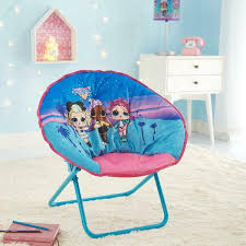 Mga Entertainment Lol Surprise Mini Kids Saucer Chair Sturdy Frame With 100 Polyester Cushion