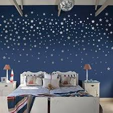 Silver Stars Wall Decals Wall Stickers Removable Home