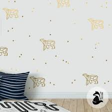 Constellation Wall Decal Bear Constellation Decal Stars Etsy