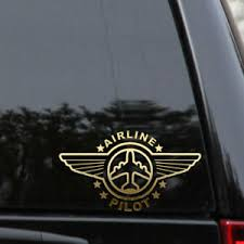 Airline Pilot Wings Decal Sticker Commercial Airplane Aviation Window Laptop Ebay