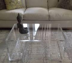 hand made acrylic coffee table with