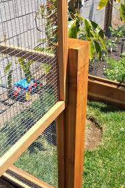 removeable raised bed fences i would