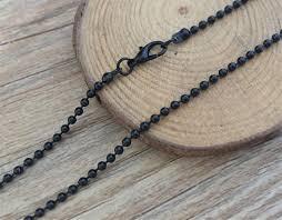 16pcs 2 4mm black ball chain necklace