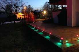 pack outdoor led deck light pavement