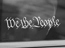 We The People Us Constitution Second Amendment Vinyl Decal Sticker Vyoletshop