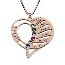 whole mom heart necklace with