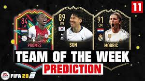 FIFA 20 TOTW 11 Predictions
