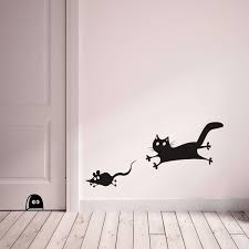 Cr 65110r Mouse And Cat Wall Decals By Crearreda