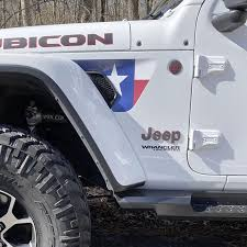 Texas State Flag 2pc Vinyl Fender Vent Decal Under The Sun Inserts