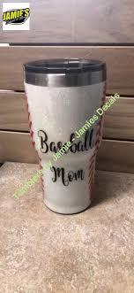 Baseball Mom Glitter Tumbler Bling Tumbler Made To Order Personal Jamies Decals