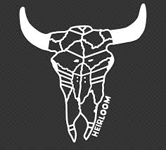 Steer Skull Large Vinyl Car Decal Heirloom Apparel Design