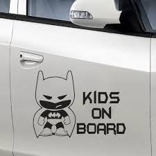 Wandtattoos Wandbilder Mobel Wohnen Kids On Board Little Batman Car Decal Vinyl Sticker For Bumper Or Window Vinyl