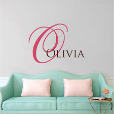 Big Initial Name Wall Decal Custom Interior Home Family Name Stickers Monograms For The Home Trendy Wall Designs