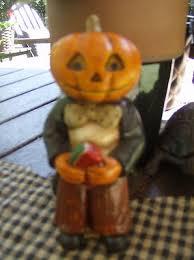 Priscilla Harrison~Chalkware Pumpkin Head Gentleman Holding Watermelon~2007  | #403016873
