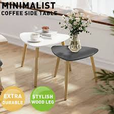 nest coffee table wood triangle bedside