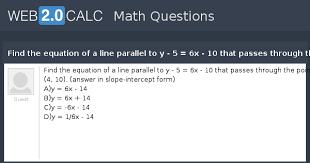 equation of a line parallel to y