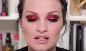 diy makeup tutorials 3 red glitter