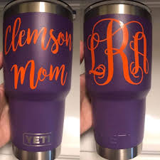 Clemson Mom Tumbler Decal