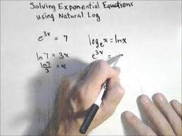 solving an exponential equation using