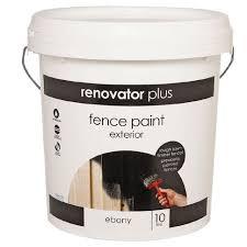 Renovator Plus Fence Paint Ebony 10l The Warehouse