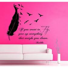 Shop Quote If You Want To Fly Give Up Everything Vinyl Sticker Living Room Interior Design Decor Sticker Decal Size 33x33 Color Black Overstock 14635775