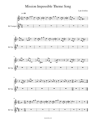 Mission Impossible Theme Song Sheet music for Piano, Trumpet ...