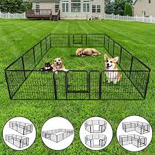 Amazon Com Nova Microdermabrasion Dog Pen Pet Playpen Kennel Fence Outdoor Indoor Play Yard Puppy Exercise Barrier 31 W X 24 H 16 Panels Pet Supplies