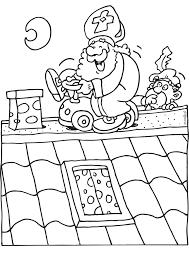 Sinterklaas Met Een Loopauto Op Het Dak Sinterklaas Kleurplaten