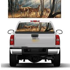 Auto Parts And Vehicles Deer Family In The Snow Forest Rear Window Graphic Decal Tint Suv Ute Truck Wrap Car Truck Graphics Decals Filtrostsd Com Ar