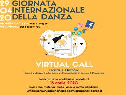 VIRTUAL CALL - Giornata Internazionale della Danza 2020