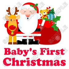 Baby S First Christmas T Shirt Iron On Transfer Decal 69