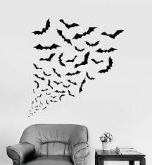 Vinyl Wall Decal Bats Halloween Horror Art Decor Stickers Mural Ig4102 Ebay