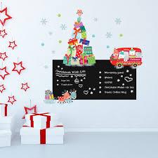 Blackboard Chalkboard Reindeer Christmas Tree Stickers Xmas Gift Diy Art Home Window Wall Decorations Decals Walmart Com Walmart Com