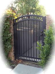 Iron Walk Gate With Screen And Interlocking Rings Top Bottom Iron Garden Gates Metal Garden Gates Iron Fence Gate