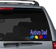 Autism Dad Vinyl Car Decal Autism Decals Asd Decals Autism Etsy