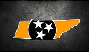 Tennessee Tri Star State Flag 7 Vinyl Car Sticker Decal L Buy 1 Get 1 Free Ebay
