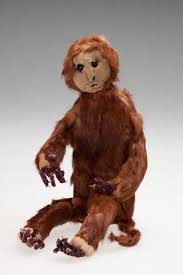 """Toy Monkey - Ada Perry, Brown Fur, 1930s-1960s. """"Perry migrated to  Australia as a widow with eight children in 1924. She st… 