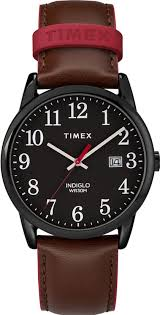 women s timex easy reader brown leather