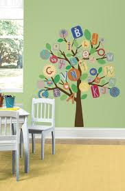Abc Primary Tree Peel Stick Giant Wall Decals Walldecals Com
