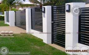 Outer Boundary Wall Design For Home Home Interior Modern Fence Design House Wall Design Fence Design