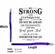 Joshua 1 9 Bible Verse Vinyl Wall Stickers Decals Scripture Quote Word Art Decor 700621397946 Ebay