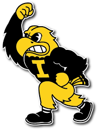 Iowa Hawkeyes Mascot Die Cut Vinyl Decal Sticker 4 Sizes