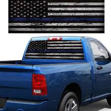 American Flag Rear Window Graphic Sticker Windshield Decal For Suv Pickup Car Stickers Aliexpress