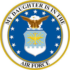 My Daughter Is In The Air Force Seal Pride Vinyl Transfer Decal