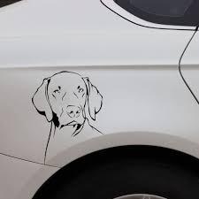 Yjzt 13x16 2cm Weimaraner Dog Animals Pets Vinyl Decal Car Sticker Cartoon Black Silver C24 1119 Shop The Nation