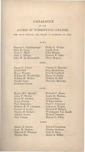 Catalogue of Washington College (Officers and Students, Course of Study),  1834-1835