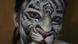 white tiger makeup face painting